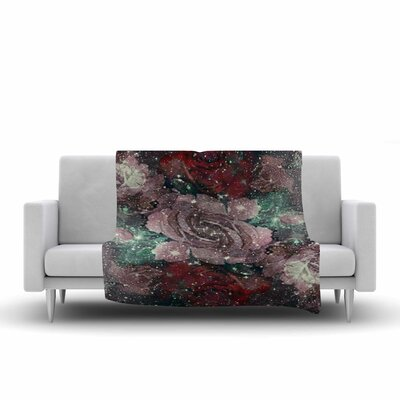 Shirlei Patricia Muniz Love Roses Digital Fleece Throw Size: 60 W x 80 L