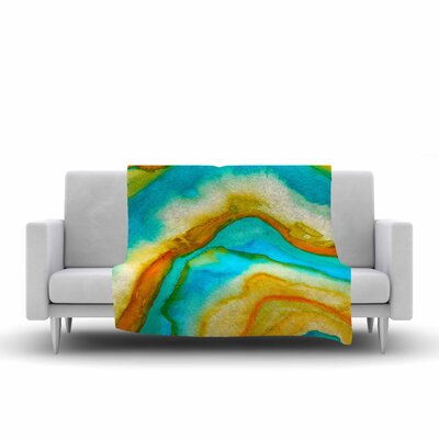 Viviana Gonzalez Agate Inspired Watercolor 10 Fleece Throw Size: 50 W x 60 L