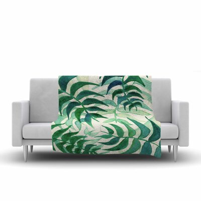 Viviana Gonzalez Botanical Vibes Watercolor Fleece Throw Size: 50 W x 60 L