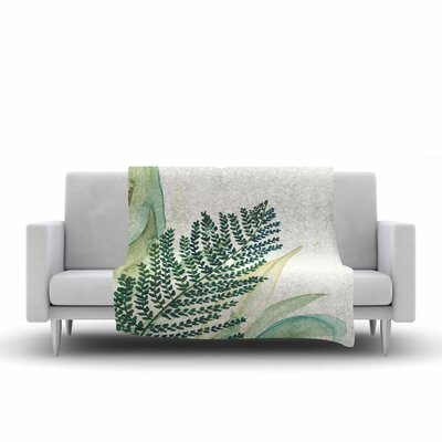 Viviana Gonzalez Botanical Vibes 02 Watercolor Fleece Throw Size: 60 W x 80 L