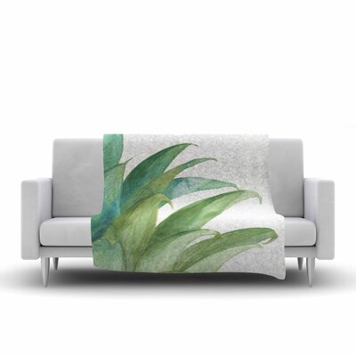Viviana Gonzalez Botanical Vibes 03 Watercolor Fleece Throw Size: 50 W x 60 L