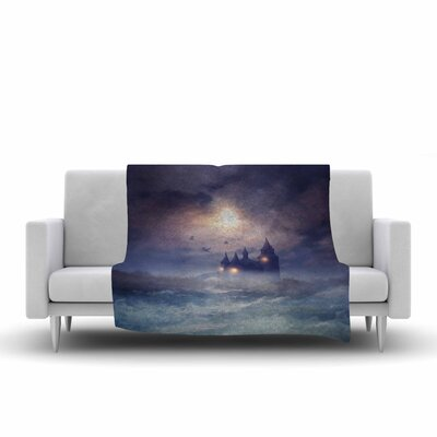 Viviana Gonzalez Sunset I C. III Illustration Fleece Throw Size: 50 W x 60 L