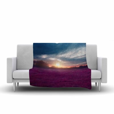 Viviana Gonzalez Sunset I C. Photography Fleece Throw Size: 60 W x 80 L