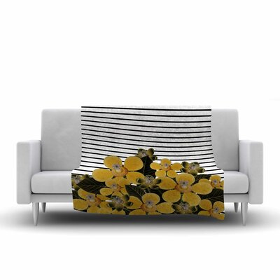 Tobe Fonseca Spring Pattern Lines Mixed Media Fleece Throw Size: 50 W x 60 L