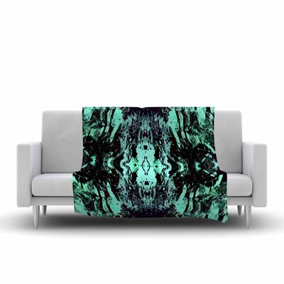 Vasare Nar Abstract Mixed Media Fleece Throw Size: 50 W x 60 L