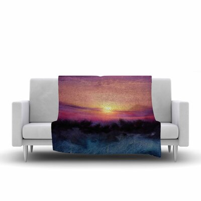 Viviana Gonzalez Calling the Sun IV Fleece Throw Size: 50 W x 60 L