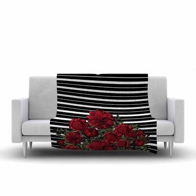 Tobe Fonseca Spring Pattern Lines Mixed Media Fleece Throw Size: 50 W x 60 L