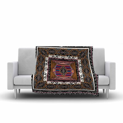 Victoria Krupp Tibet Mandala Illustration Fleece Throw Size: 50 W x 60 L