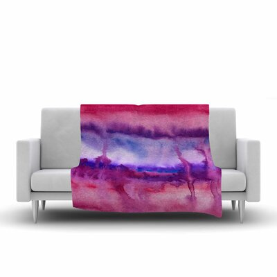 Viviana Gonzalez Improvisation 22 Watercolor Fleece Throw Size: 60 W x 80 L