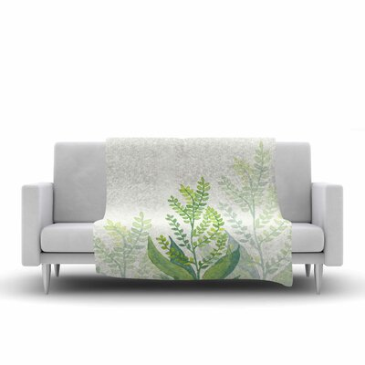 Viviana Gonzalez Botanical Vibes 06 Digital Fleece Throw Size: 50 W x 60 L