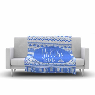 Vasare Nar Hakuna Matata Illustration Fleece Throw Size: 60 W x 80 L