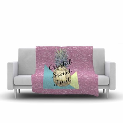 Victoria Krupp Crystal Sweet Fruit Fleece Throw Size: 50 W x 60 L