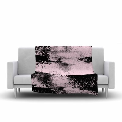 Vasare Nar Abstract Painting Fleece Throw Size: 50 W x 60 L