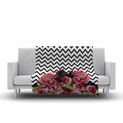 Tobe Fonseca Spring Pattern Chevron Mixed Media Fleece Throw Size: 60 W x 80 L