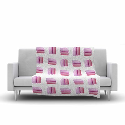 Zara Martina Watercolor Patches Fleece Throw Size: 50 W x 60 L
