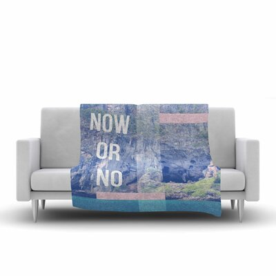 Vasare Nar Now Or No Mixed Media Fleece Throw Size: 50 W x 60 L