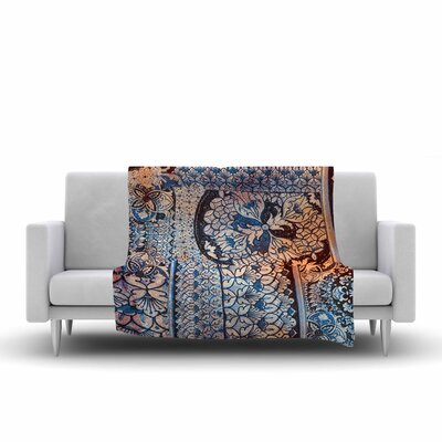 Victoria Krupp Italian Tiles Digital Fleece Throw Size: 50 W x 60 L