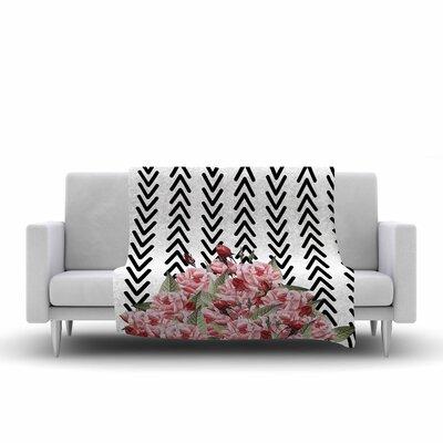 Tobe Fonseca Spring Pattern Arrow Illustration Fleece Throw Size: 60 W x 80 L
