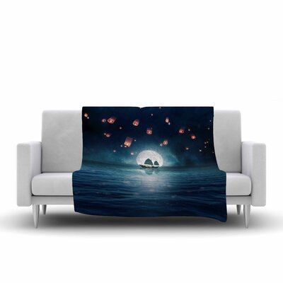 Viviana Gonzalez Travel Through the Lights Digital Fleece Throw Size: 60 W x 80 L