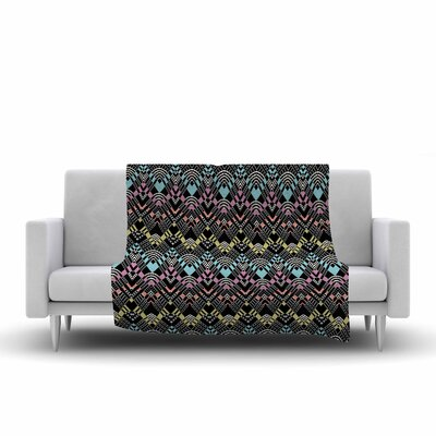 Victoria Krupp Tribal Zigzag Digital Fleece Throw Size: 60 W x 80 L