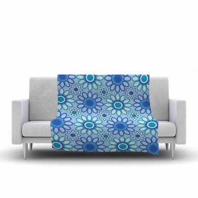 Julia Grifol Flowers Tile Vector Fleece Throw Size: 60 W x 80 L