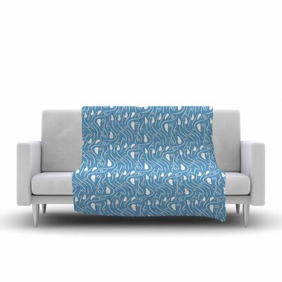 Mydeas Dots in the Wind Pattern Vector Fleece Throw Size: 60 W x 80 L