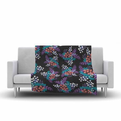 Pellerina Design Bohemianery Watercolor Fleece Throw Size: 50 W x 60 L