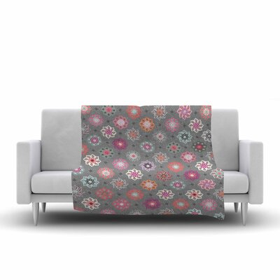Jolene Heckman Mini Floral Fleece Throw Size: 60 W x 80 L