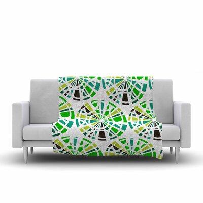 Patternmuse Precious Emerald Illustration Fleece Throw Size: 60 W x 80 L
