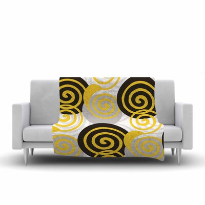 Patternmuse Dynamic Swirls Digital Fleece Throw Size: 50 W x 60 L