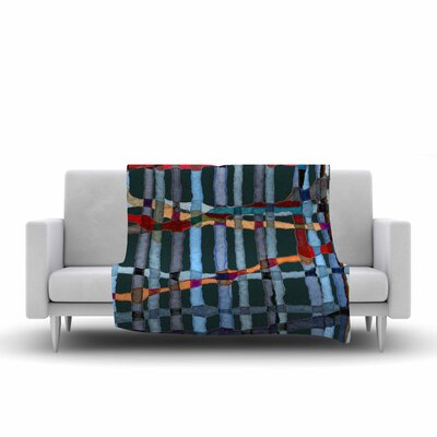 Patternmuse Midnight Bamboo Painting Fleece Throw Size: 60 W x 80 L