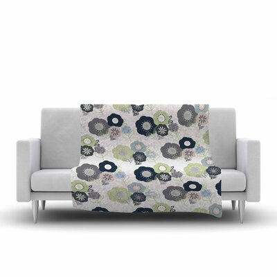 Jolene Heckman Floral Bunches Fleece Throw Size: 50 W x 60 L