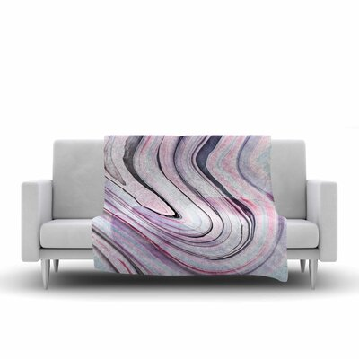 Mmartabc Abstract Marble Digital Fleece Throw Size: 50 W x 60 L