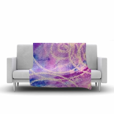 Liz Perez Vortex Watercolor Fleece Throw Size: 50 W x 60 L