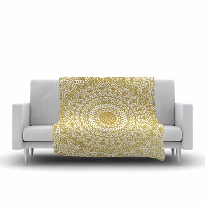 Nika Martinez Mandala Illustration Fleece Throw Size: 60 W x 80 L