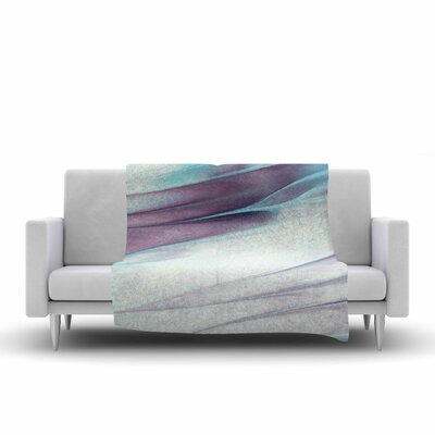 Mmartabc Paint Strokes Painting Fleece Throw Size: 50 W x 60 L