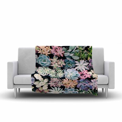 Kristi Jackson Succulent Gathering Photography Fleece Throw Size: 50 W x 60 L