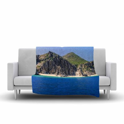 Nick Nareshni Stone Hills Coastline Photography Fleece Throw Size: 50 W x 60 L