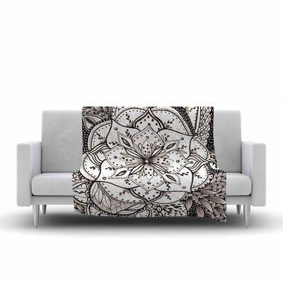 Li Zamperini BW Illustration Fleece Throw Size: 60 W x 80 L