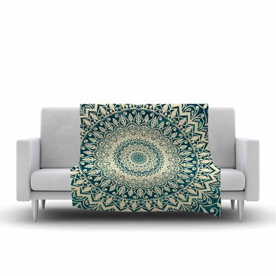 Nika Martinez Nature Boho Mandala Illustration Fleece Throw Size: 50 W x 60 L