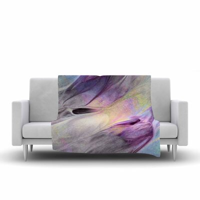 Mmartabc Abstract Paint Strokes Digital Fleece Throw Size: 50 W x 60 L