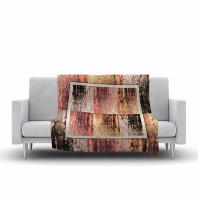 Nina May Tavertina Earth Digital Fleece Throw Size: 50 W x 60 L