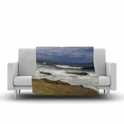 Nick Nareshni Exposed above Water Sandstone Photography Fleece Throw Size: 60 W x 80 L