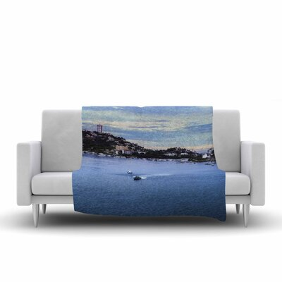 Nick Nareshni Puerto Rico Coastline Photography Fleece Throw Size: 60 W x 80 L