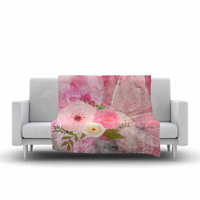 Li Zamperini My Butterfly Watercolor Fleece Throw Size: 60 W x 80 L