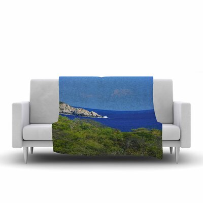 Nick Nareshni Forest To the Ocean Photography Fleece Throw Size: 50 W x 60 L