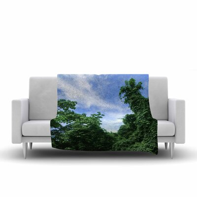 Nick Nareshni Forest in the Sky Photography Fleece Throw Size: 60 W x 80 L