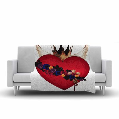 Oriana Cordero Sacred Heart for Frida Fleece Throw Size: 50 W x 60 L