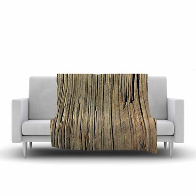 Nick Nareshni Tree Bark Pattern Photography Fleece Throw Size: 60 W x 80 L