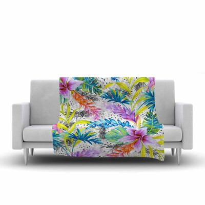 Mmartabc Exotic Pattern Illustration Fleece Throw Size: 50 W x 60 L
